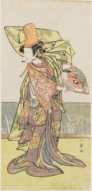勝川春章: Actor Nakamura Tomijûrô as Shirabyoshi Ukikusa - ボストン美術館