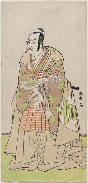 勝川春章: Actor Nakajima Kanzaemon III as Kô no Moronao - ボストン美術館