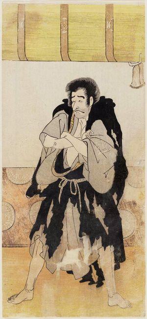 勝川春章: Actor Ichikawa Danjuro V as Jigokudani Seizaemon Bozu - ボストン美術館