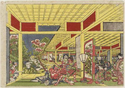 Utagawa Toyoharu: The Armor-pulling Scene at Wada's Banquet (Wada sakamori kusazuribiki no zu) - Museum of Fine Arts