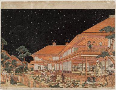 歌川豊春: Act VII (Shichidanme), from the series Perspective Pictures of the Storehouse of Loyal Retainers (Uki-e Kanadehon Chûshingura) - ボストン美術館