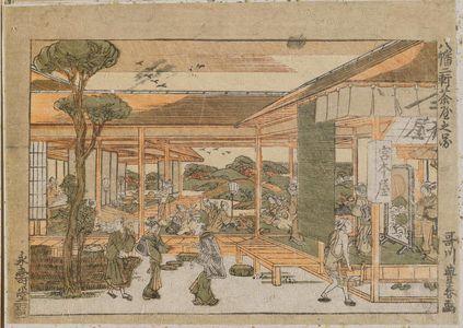 歌川豊春: Yawata, Niken Chaya no zu - ボストン美術館