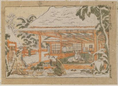 Utagawa Toyoharu: Saimyoji, Towa Keiseki, 3 (Chinese and Japanese Pictures, No. 3) - Museum of Fine Arts