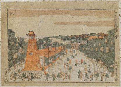 Utagawa Toyoharu: The Shrine of Sumiyoshi Myôjin in Sakai (Sakai Sumiyoshi Myôjin no zu) - Museum of Fine Arts
