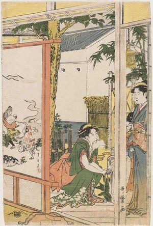 喜多川歌麿: Celebration in Honor of Ebisu - ボストン美術館