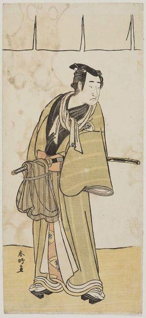 Katsukawa Shunko: Actor with cloth tied around sword - Museum of Fine Arts