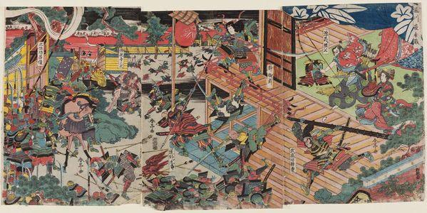 Katsukawa Shuntei: The Night Battle at Horikawa (Horikawa yoru no kassen) - Museum of Fine Arts