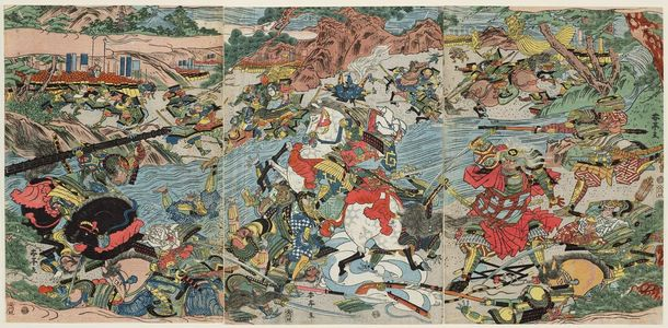 Katsukawa Shuntei: Battle of Kawanakajima? - Museum of Fine Arts