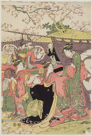 Kitagawa Utamaro: Cherry Blossom Viewing Picnic - Museum of Fine Arts
