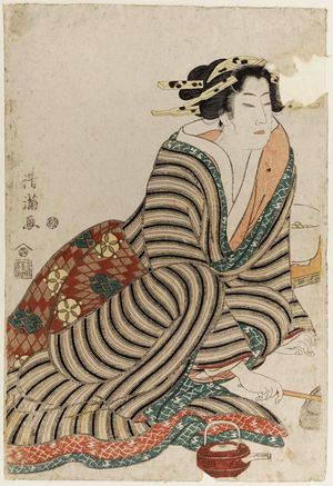 Torii Kiyomine: Three Kinds of Drunks (Sannin namayoi) - Museum of Fine Arts