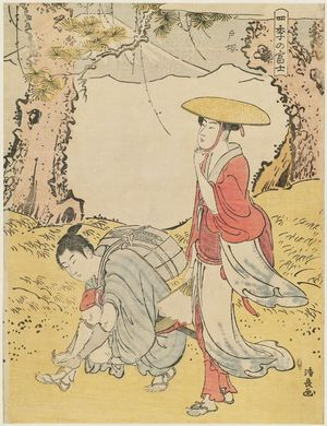 Torii Kiyonaga: Totsuka, from the series Mount Fuji in the Four Seasons (Shiki no Fuji) - Museum of Fine Arts