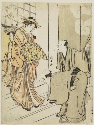 Torii Kiyonaga: The Clove: A Courtesan of the House of the Clove (Chôjiya), from the series Ten Magical Treasures of the Floating World (Ukiyo jisshu hô) - Museum of Fine Arts