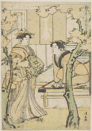 鳥居清長: The Third Month (Hanamizuki), from the series Ten Scenes in the New Yoshiwara (Shin Yoshiwara jikkei) - ボストン美術館