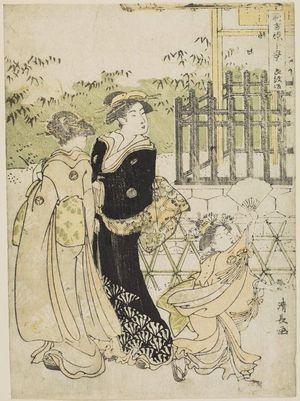 Torii Kiyonaga: Emonzaka, from the series Ten Scenes in the New Yoshiwara (Shin Yoshiwara jikkei) - Museum of Fine Arts