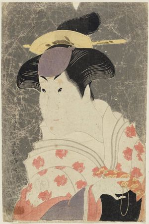 Toshusai Sharaku: Actor Iwai Hanshirô IV as the Wet Nurse Shigenoi - Museum of Fine Arts