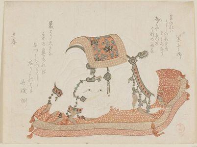 窪俊満: Elephant on a Cushion - ボストン美術館