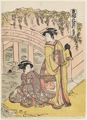 Kitao Masanobu: Kameido, from the series Places in the Eastern Capital Famous for Flowers (Tôto hana meisho) - ボストン美術館