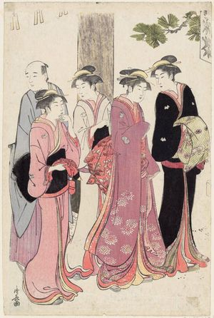 Torii Kiyonaga: A Matchmaking Meeting at a Teahouse by a Shrine - Museum of Fine Arts