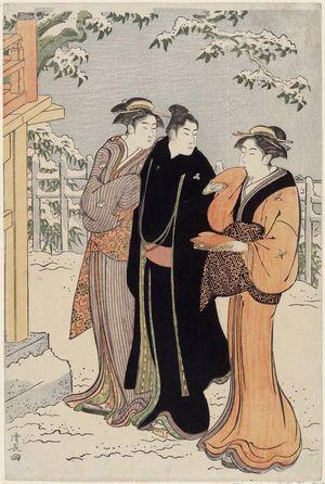 Torii Kiyonaga: Matsuchiyama after a Snowfall - Museum of Fine Arts