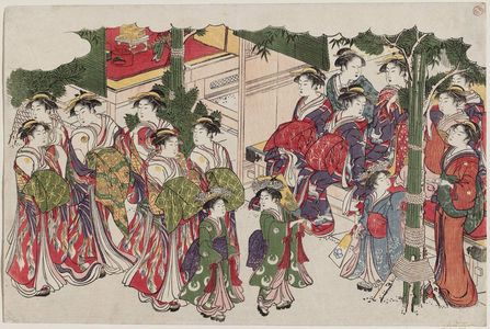 Torii Kiyonaga: First Costumes of the New Year (Kiso hajime), from the album Saishiki mitsu no asa (Colors of the Triple Dawn) - Museum of Fine Arts