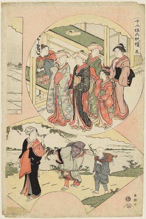 勝川春潮: No. 5, from the series Twelve Months in Six Sheets (Jûni kô rokumai tsuzuki) - ボストン美術館