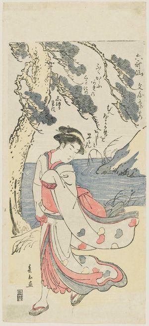 Katsukawa Shunzan: Poem by Bun'ya no Yasuhide, from the series Six Poetic Immortals (Rokkasen) - Museum of Fine Arts