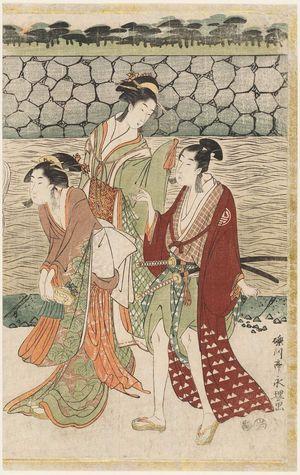 Rekisentei Eiri: Parody of a Daimyô Procession Entering a Castle - Museum of Fine Arts