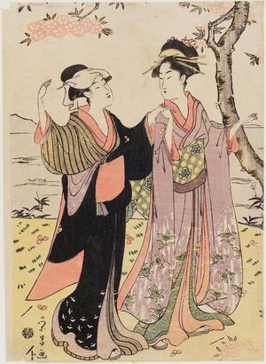 Chokosai Eisho: Women Viewing Cherry Blossoms - Museum of Fine Arts