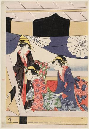 Chokosai Eisho: Women in a Pleasure Boat - Museum of Fine Arts
