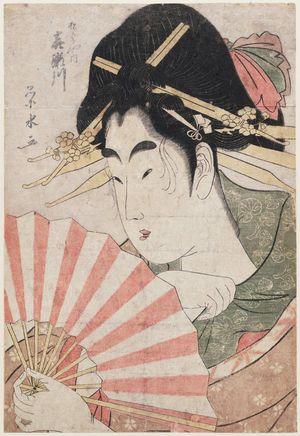 一楽亭栄水: Kisegawa of the Matsubaya - ボストン美術館