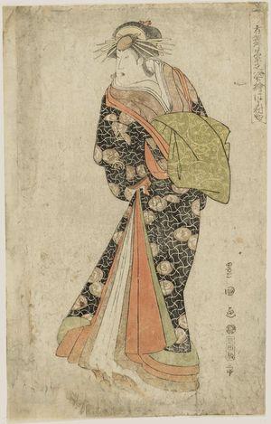 歌川豊国: Hamamuraya (Actor Segawa Kikunojô III as the Courtesan Katsuragi), from the series Portraits of Actors on Stage (Yakusha butai no sugata-e) - ボストン美術館