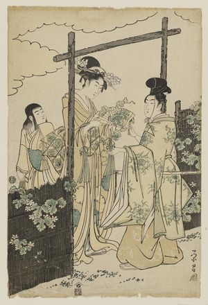 Chokosai Eisho: Modern Version of the Yûgao Chapter of the Tale of Genji - Museum of Fine Arts