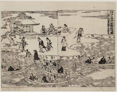 Okumura Masanobu: Record of Famous Places in Edo: Picture of the Komagata-dô (Edo meisho ki Komagata-dô zu) - Museum of Fine Arts