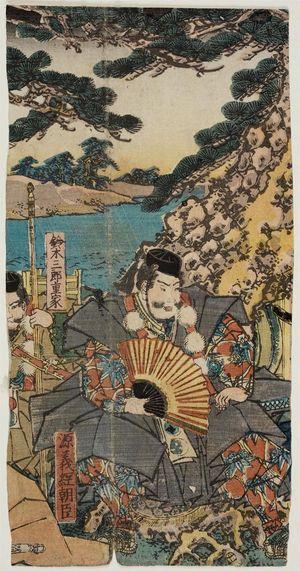 Utagawa Sadahide: Yoshitsune and Benkei Escaping to the North - Museum of Fine Arts