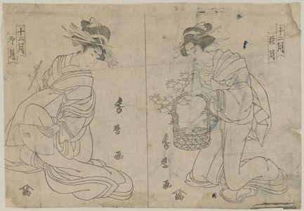 喜多川秀麿: from the series Twelve Months (Juni tsuki) - ボストン美術館