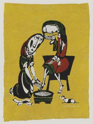 Watanabe Sadao: Washing Feet - Museum of Fine Arts