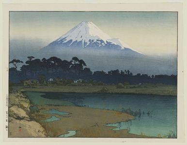 吉田博: Sunrise (Asahi), from the series Ten Views of Mount Fuji (Fuji jukkei) - ボストン美術館