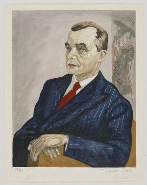 関野準一郎: Portrait of Mr. Fritz W. Bilfinger - ボストン美術館