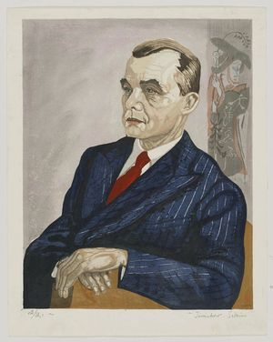 Sekino Jun'ichiro: Portrait of Mr. Fritz W. Bilfinger - Museum of Fine Arts