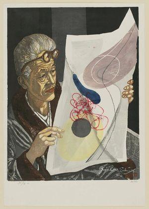 関野準一郎: Portrait of Onchi Koshiro - ボストン美術館