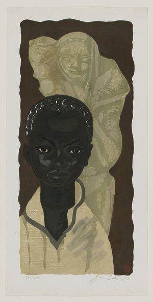 関野準一郎: Portrait of Negro - ボストン美術館
