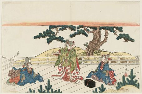Katsukawa Shunko: Women Dancing Sanbasô - Museum of Fine Arts