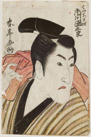勝川春亭: Actor Ichikawa Danzaburô as the Apprentice (Detchi) HIsamatsu - ボストン美術館