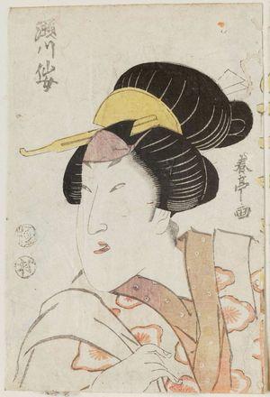 勝川春亭: Actor Segawa Senjo - ボストン美術館