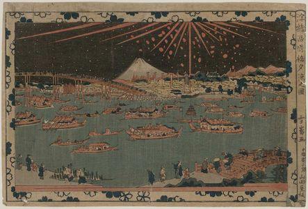 Sawa Sekkyo: Ryogoku Bashi Yusuzumi no zu. Series: Ukié. - Museum of Fine Arts