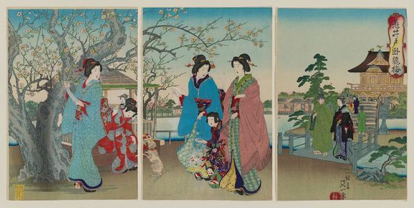 Watanabe Nobukazu: The Sleeping Dragon Plum Tree at Kameido (Kameido Garyûbai) - Museum of Fine Arts