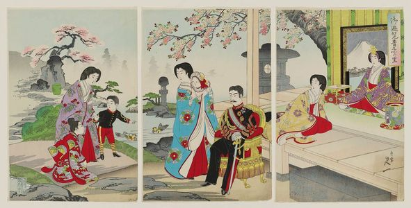 Watanabe Nobukazu: Enjoying the Village of Green Leaves (Goyûran aoba no sato) - Museum of Fine Arts