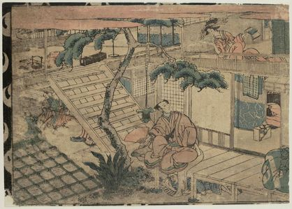 Utagawa Kuninao: Act VII (Shichidanme), from the series Perspective Pictures of the Storehouse of Loyal Retainers (Uki-e Chûshingura) - ボストン美術館