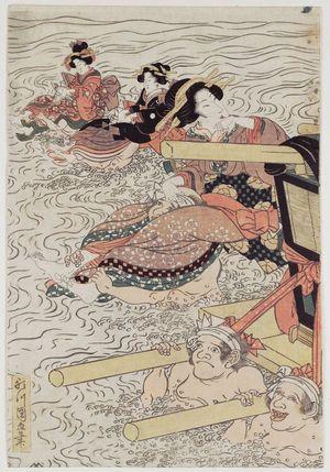 Utagawa Kuninao: Newly Published Complete View of the Ôi River (Shinpan Ôikawa zenzu) - Museum of Fine Arts