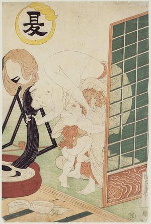Utagawa Kuninao: Summer (Natsu) - Museum of Fine Arts